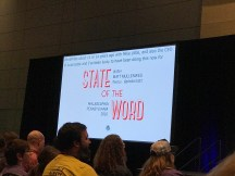 State of the Word title slide