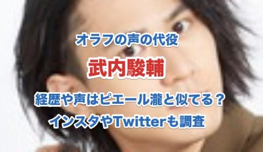 武内駿輔の経歴|オラフの代役で声はピエール瀧と似てる?インスタやTwitterも調査