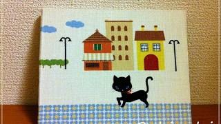 黒猫Loloで見開きフォトフレーム