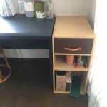 アトリエ部屋ができました。その収納に合わせた箱作り。