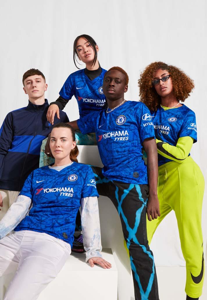 Nike præsenterer Chelsea 2019/20 Hjemmebanetrøje 3