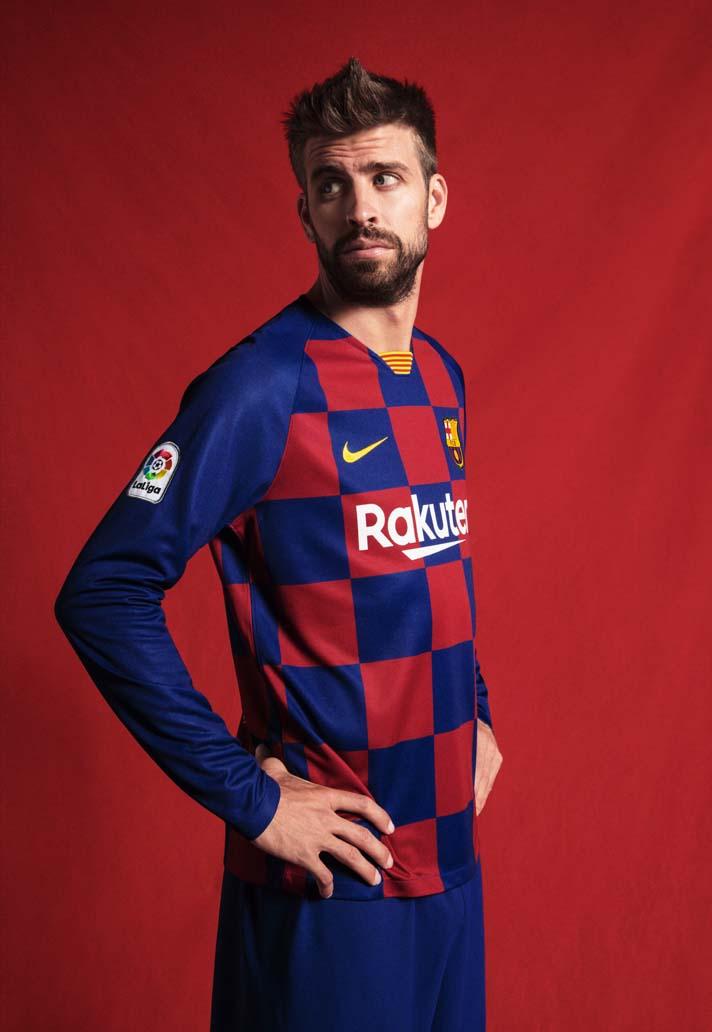 Nike Barcelona 2019/20 Hjemmebanetrøje 3