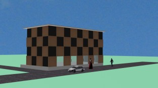 Exterior elevation for model town2