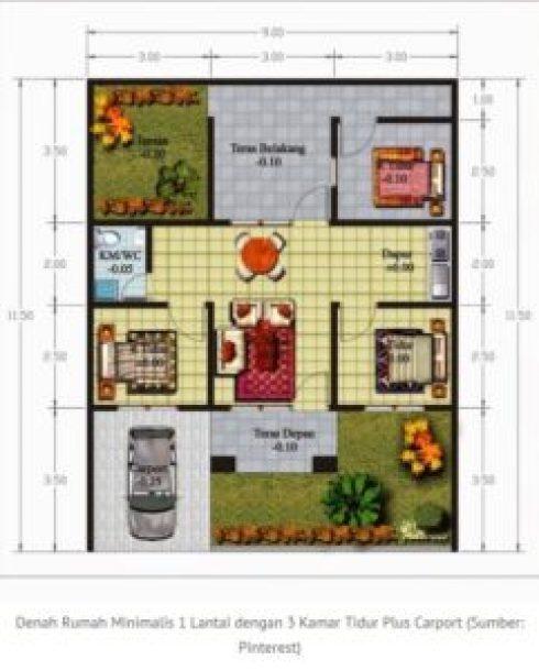 rumah-1-lantai-3-kamar-tidu