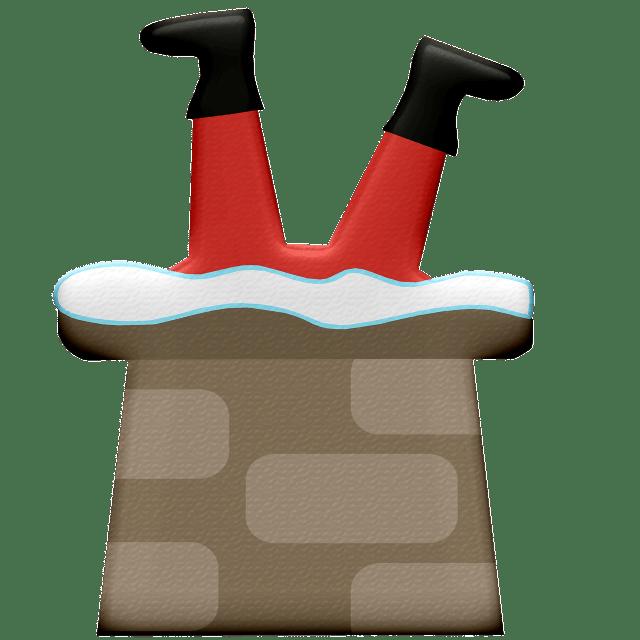 Santa Claus Chimney Christmas Stuck  - AnnaliseArt / Pixabay