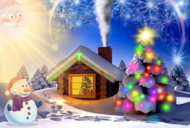 Snowman Lights Stars Christmas  - ParallelVision / Pixabay