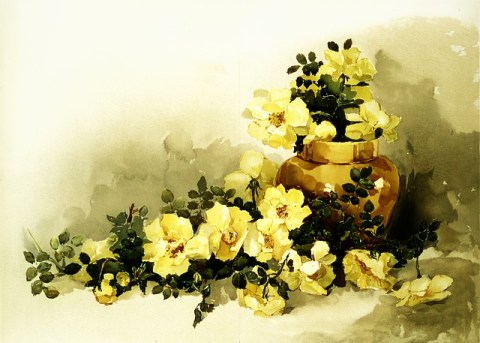 Flowers Bouquet Vase Rustic Petals  - Prawny / Pixabay