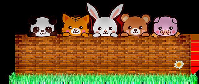 Animals Brick Wall Cute  - 7089643 / Pixabay