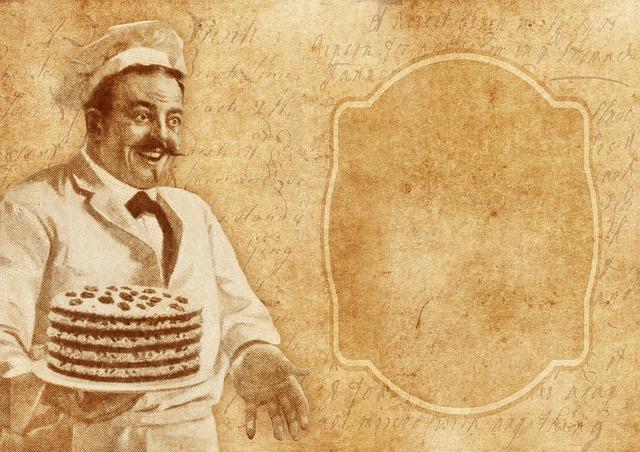 Baker Vintage Cooking Cake Recipe  - Darkmoon_Art / Pixabay