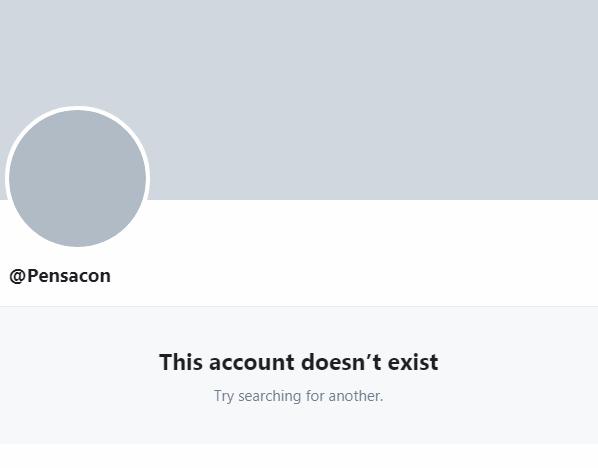Pensacon Deleted Account