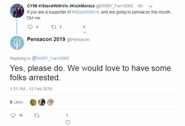 Pensacon Threats to Fans