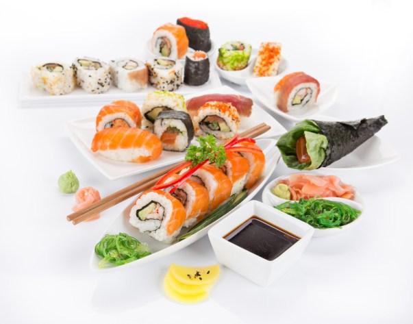 Types of japanese sushi