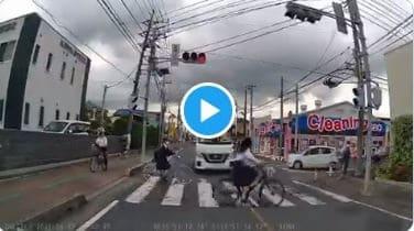 丸石サイクル信号無視の危険運転