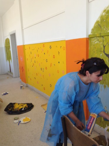 Painting the school rooms