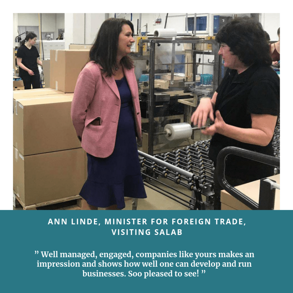 Visit of Ann Linde, Swedish Minister for Foreign Trade