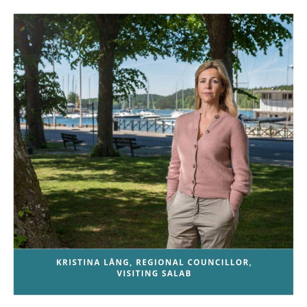 Regional Councillor Karin Lång visiting SALAB