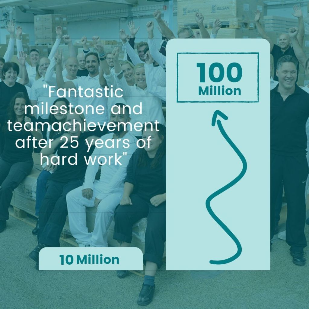 Milestone 100 Mln in turnover achieved
