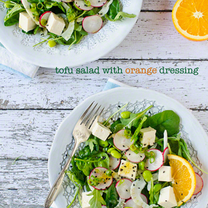 Tofu Salad with Orange Dressing