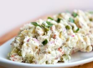 Creamy Baked Potato Salad with Italian Dressing Recipe