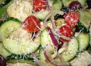 High Protein Greek Chicken Salad