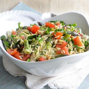 asparagus orzo salad