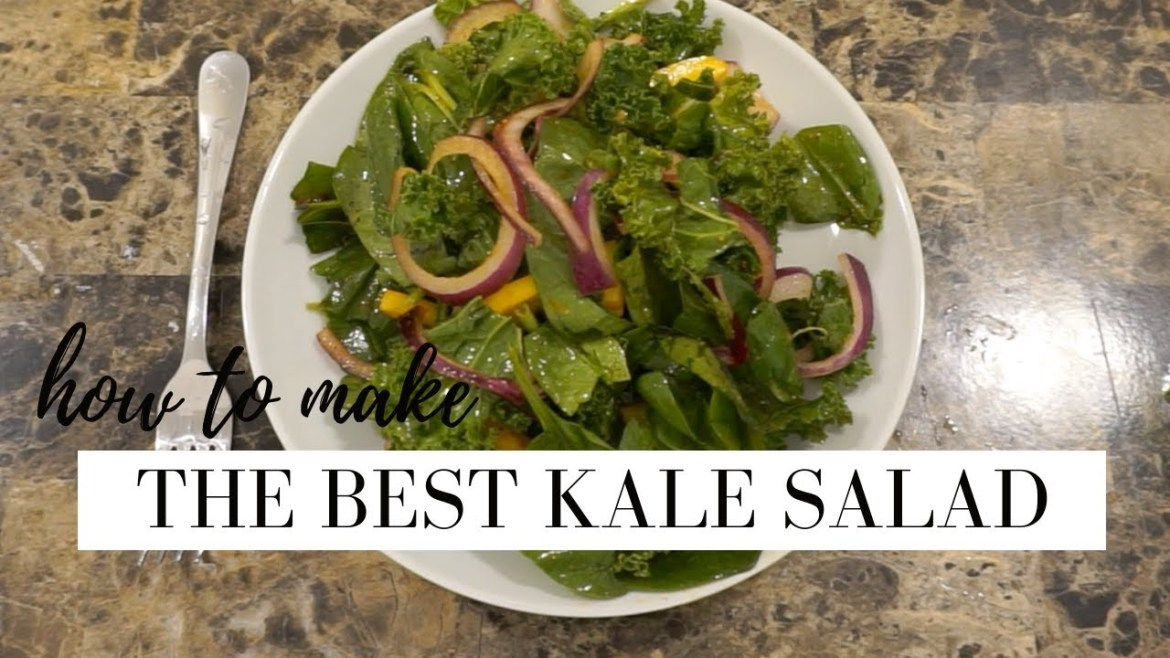 THE PERFECT KALE SALAD   how to make a raw kale salad   STACEY FLOWERS