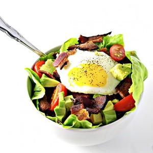 Bacon, Lettuce, Tomato, Egg, and Avocado Salad