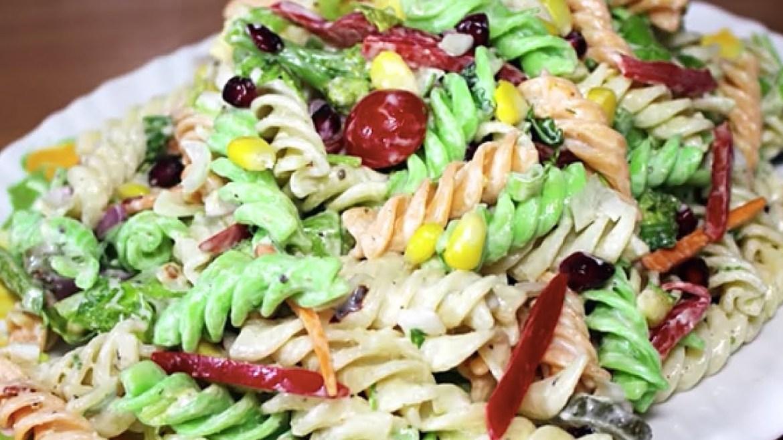 Creamy Pasta Salad with Mayonnaise    Easy Pasta Salad Recipe   Kanak's Kitchen