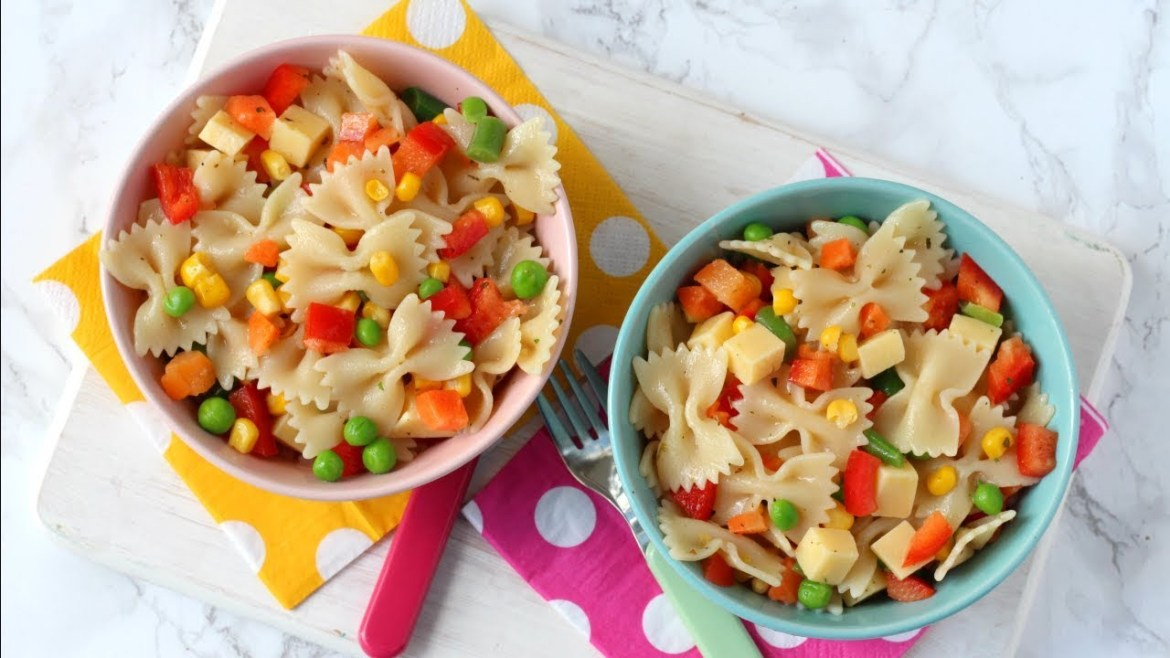 Easy Pasta Salad for Kids   15 Minute Meal