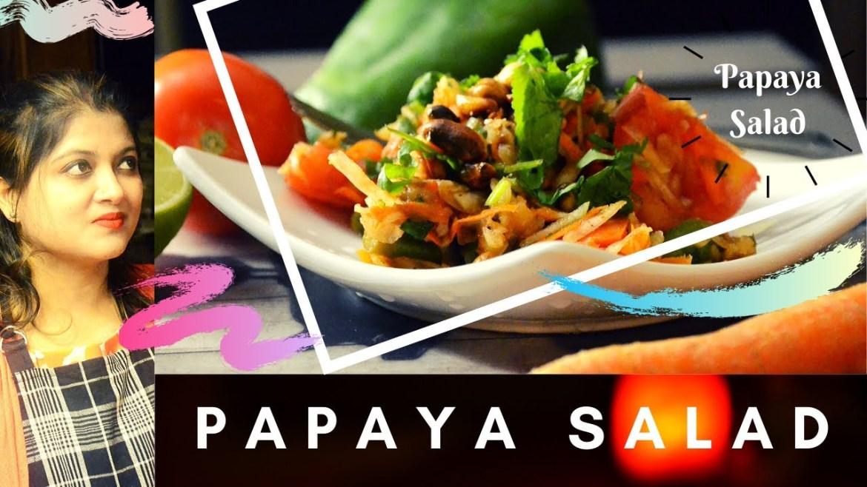 Thai Papaya Salad   A vegetarian healthy recipe makes our heart & mind blissful.!!