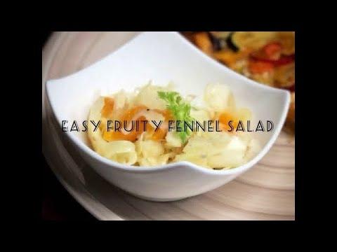 Easy fruity fennel salad #vegan #salad #fennel