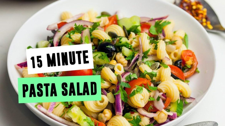 15-Minute Pasta Salad | SO VEGAN
