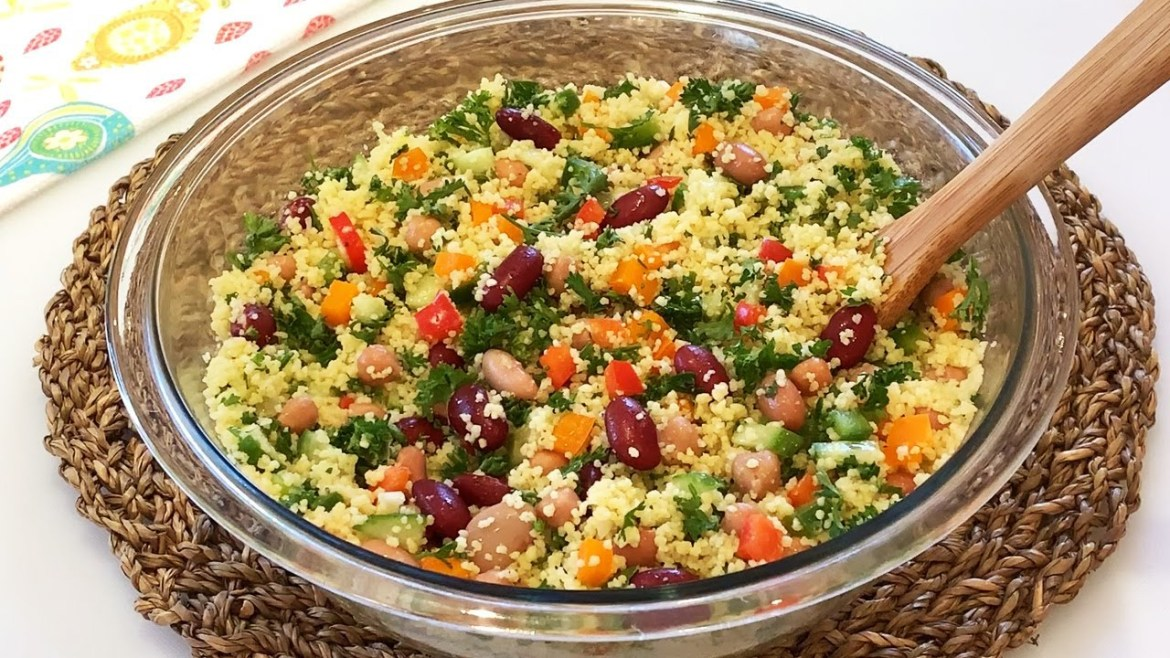 Couscous Salad Recipe (High Protein & Healthy)