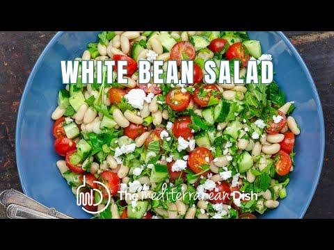 Easy White Bean Salad by The Mediterranean Dish