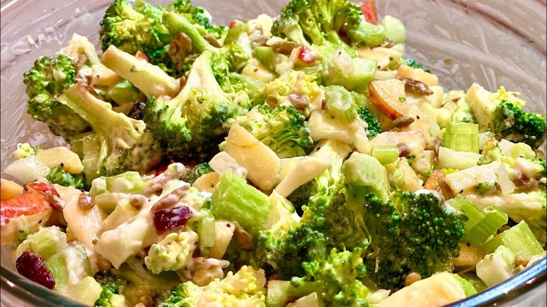 Broccoli Salad Recipe   Vegetarian Salad Recipe   Easy Salad Recipe