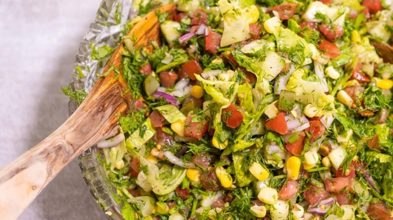 Juicy Mediterranean Salad | Salad Recipe For The Whole Family | Vegan Raw Recipes