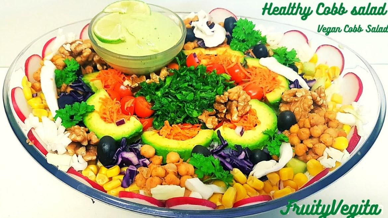 Vegan Cobb Salad with Avocado Lime Dressing Recipe