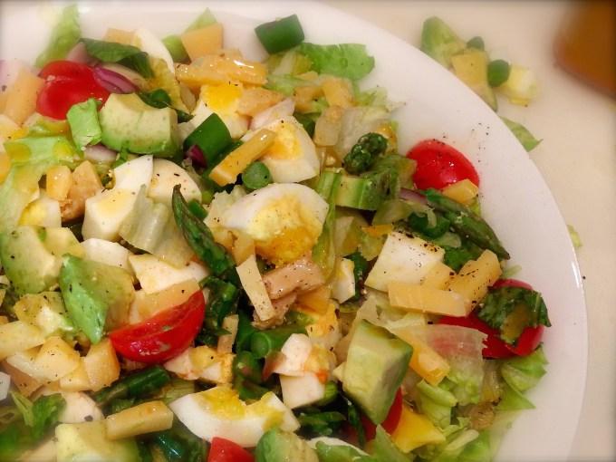 Chopped Salad With Hard Boiled Eggs & Smoked Paprika Vinaigrette