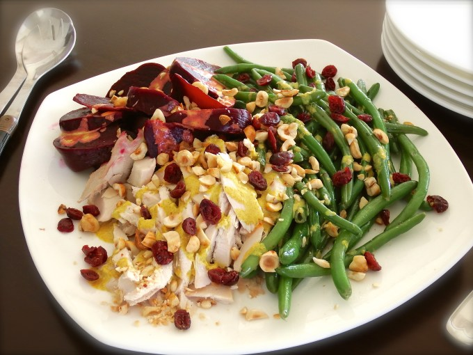 Green Beans, Turkey & Beets Salad – Creamy Curry Dressing