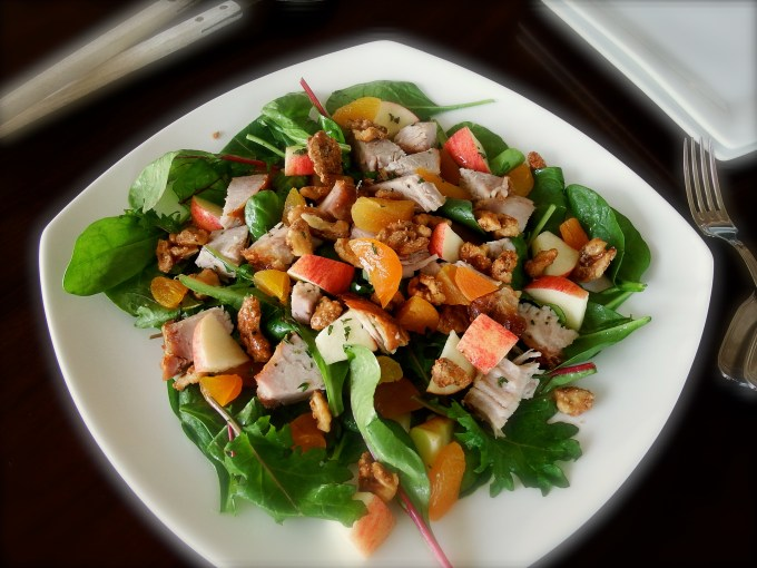 Pork Loin & Dried Apricots Salad