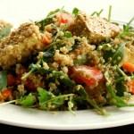 tofu quinoa curry salad