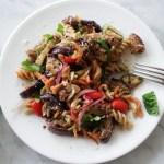 Fusilli Eggplant & Sun Dried Tomato Dressing