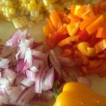 Rice Salad & Veggie Salad With Cumin Vinaigrette