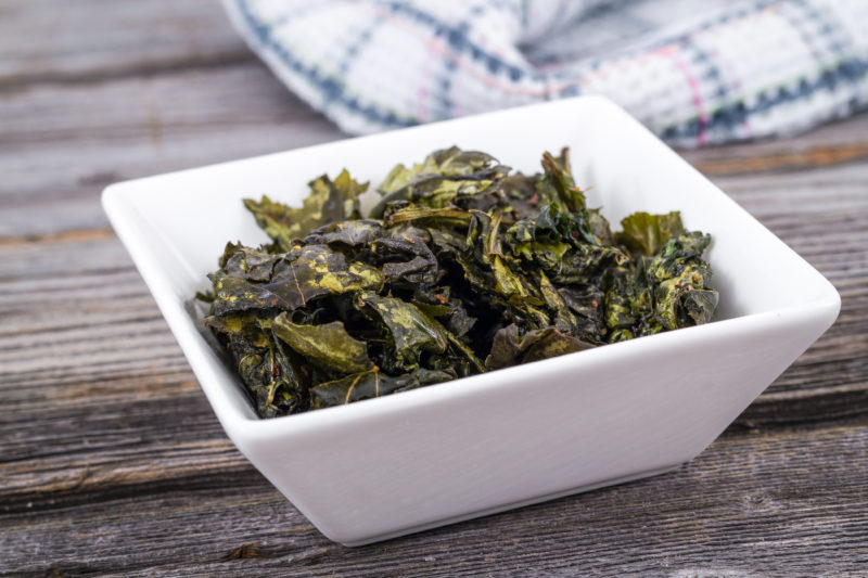 Seasoned kale chips - makes a great healthy snack!