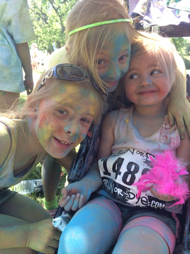 Sierra's 9th Birthday Run or Dye Race Recap