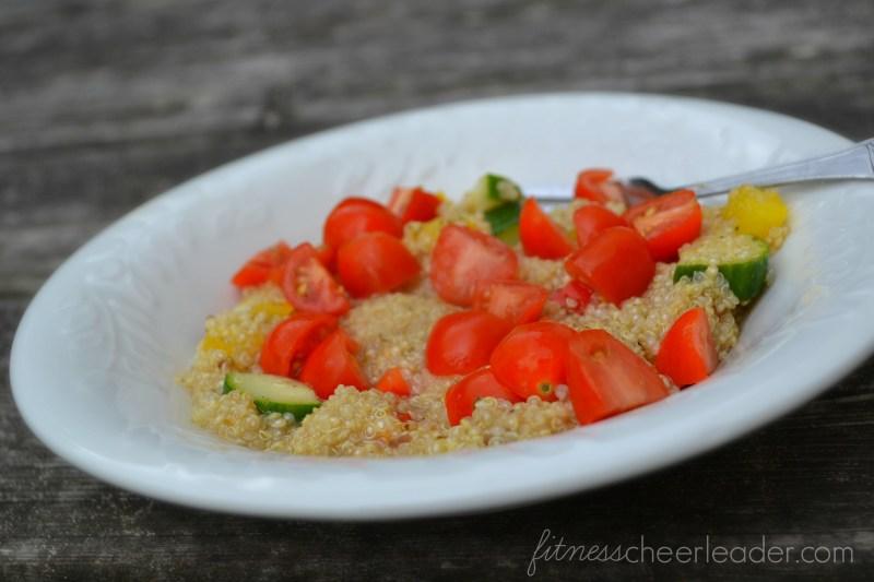 Tonight's easy peasy dinner: Greek Quinoa Salad