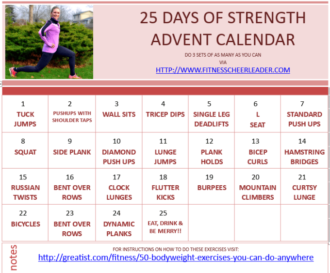 25 Days of Strength Advent Calendar #MotivateMe