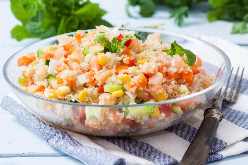 Vegan Quinoa Salad + My Staycation Plans #MotivateMe Monday