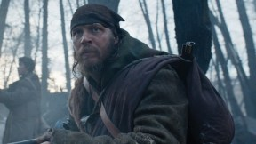 re_select_4.00002444 Tom Hardy (foreground) and Will Poulter hunt for the person they had left for dead, in THE REVENANT. Photo Credit: Courtesy Twentieth Century Fox. Copyright © 2015 Twentieth Century Fox Film Corporation. All rights reserved. THE REVENANT Motion Picture Copyright © 2015 Regency Entertainment (USA), Inc. and Monarchy Enterprises S.a.r.l. All rights reserved. Not for sale or duplication.