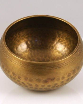 12cm hammered brass singing bowl